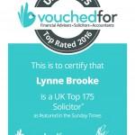 Lynne Brooke TOp 175 Cert